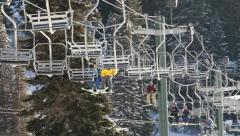 Ski Lift Snowboarding Ramp Snow Winter 4 - stock footage