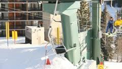 Ski Lift Snowboarding Ramp Snow Winter 3 - stock footage