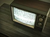 Stock Video Footage of retro television with static