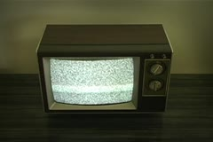 retro television with static - stock footage