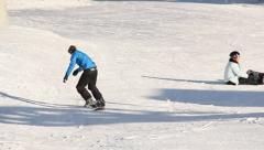 Ski Lift Snowboarding Ramp Snow Winter 7 - stock footage