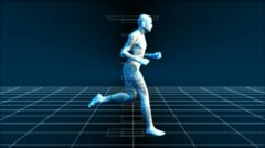 Running Man (Bionic Science Tech) Animation - stock footage