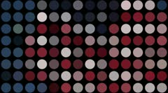 Red white and blue dots Stock Footage