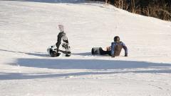 Ski Lift Snowboarding Ramp Snow Winter 9 - stock footage
