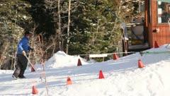 Ski Lift Snowboarding Ramp Snow Winter 10 - stock footage