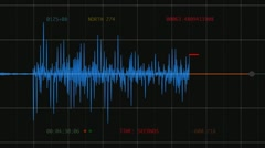 Seismograph (Computer Earthquake Data) Stock Footage