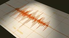 seismograph (computer earthquake data) - stock footage