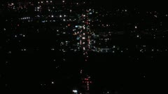 San fernando valley city traffic at night (hd aerial) Stock Footage