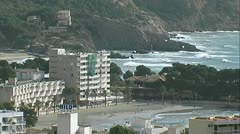Mallorca Seaside Resort Stock Footage
