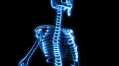 X-ray scan of human skeleton (hd) Stock Footage
