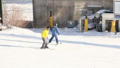 Ski Lift Snowboarding Ramp Snow Winter 13 - stock footage