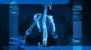 X-Ray Of Human Spine (HD) Animation Stock Footage