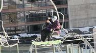 Ski Lift Snowboarding Ramp Snow Winter 15 Stock Footage