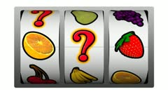 Slot machine - question mark winner Stock Footage