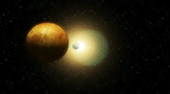 Close-Up Fly-By Of The Solar System (HD) Stock Footage