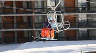 Ski Lift Snowboarding Ramp Snow Winter 17 Stock Footage