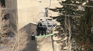 Ski Lift Snowboarding Ramp Snow Winter 16 Stock Footage