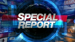 Special Report - Broadcast News Graphics Title Animation - stock footage