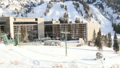Ski Lift Snowboarding Ramp Snow Winter 18 - stock footage