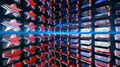 stars red white & blue (3d animation loop) - stock footage