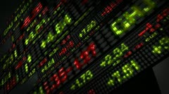 Stock Market Tickers Price Data Animation - stock footage