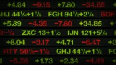 Stock Video Footage of stock market data tickers board