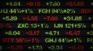 Stock market data tickers board Stock Footage