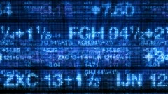 Stock Market Data Tickers Board 3D Background - stock footage