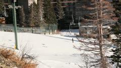 Ski Lift Snowboarding Ramp Snow Winter 23 - stock footage