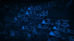 Stock Market Tickers Digital Data Animation - stock footage