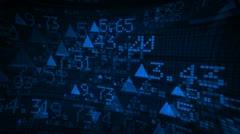Stock Market Tickers Digital Data Animation Stock Footage
