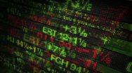 Stock Market Tickers Digital Data Stock Footage