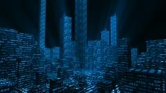 Stock market metropolis Stock Footage