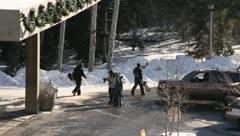 Ski Lift Snowboarding Ramp Snow Winter 26 - stock footage