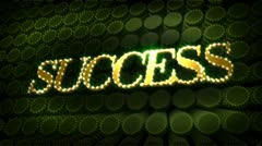 Success glitter glitz sparkle text Stock Footage