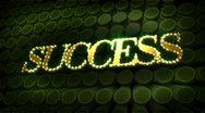 Success glitter glitz sparkle text Stock Footage