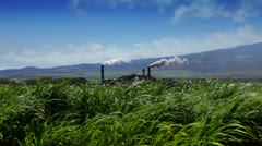 Sugarcane Field And Refinery (Hawaii) Stock Footage