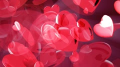 Sweet red hearts of love Stock Footage