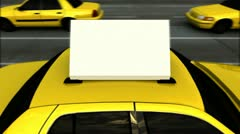 Taxi Advertising Message Board (Loop) Stock Footage