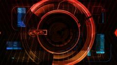 Digital Technology Interface Background Animation Stock Footage