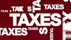 Stock Video Footage of Taxes - Text Animation Graphics