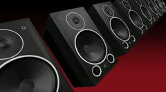 thumping bass speakers - stock footage