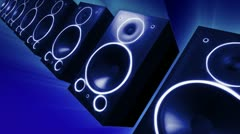thumping audio speakers - stock footage