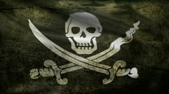 Pirate flag. Stock Footage