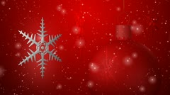 Christmas background seamless loop red Stock Footage