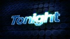 Tonight glitz sparkle text Stock Footage