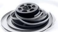 Old 8mm films & reels Stock Footage