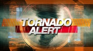 Stock Video Footage of tornado alert - title graphics