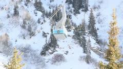 Ski Lift Snowboarding Ramp Snow Winter 32 - stock footage