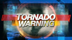 Tornado Warning - Title Graphics Animation - stock footage